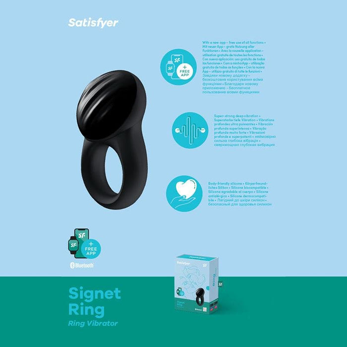 Satisfyer Signet Ring - App Controlled Vibrating Cock Ring