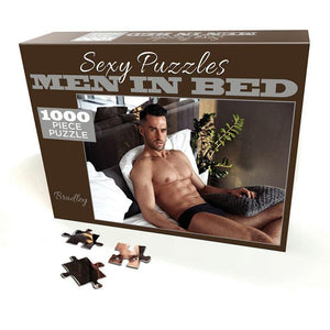 Sexy Puzzles - Men In Bed - Bradley - 100 piece Jigsaw Puzzle