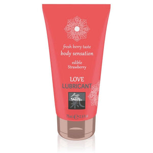 SHIATSU Love Lubricant - Strawberry Flavoured - 75 ml