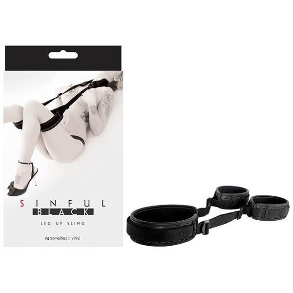 Sinful Leg Up Sling - Black Bondage Restraint