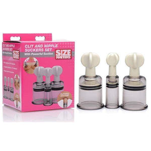 Size Matters Clit and Nipple Suckers Set - Set of 3