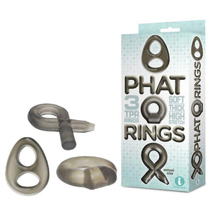 The 9's 2 Phat Rings Smoke Cock Rings - Set of 3