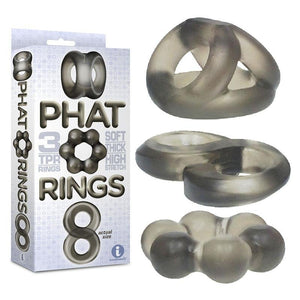 The 9's Phat Rings Smoke Cock Rings - Set of 3