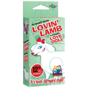 Travel-size Lovin' Lamb - Miniature Blow Up Sheep Doll