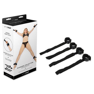 WhipSmart Diamond Bed Ties - Black Restraints