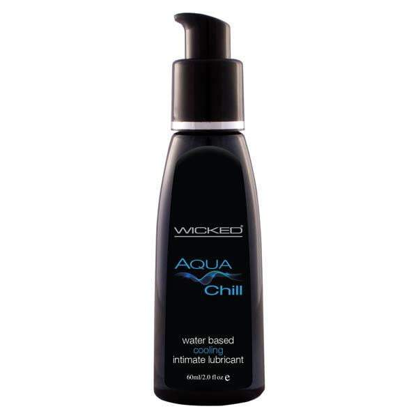 Wicked Aqua Chill - Cooling Water Based Lubricant - 60 ml (2 oz) Bottle