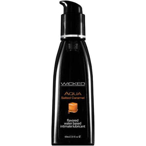 Wicked Aqua Salted Caramel - Salted Caramel Flavoured Water Based Lubricant - 60 ml (2 oz) Bottle