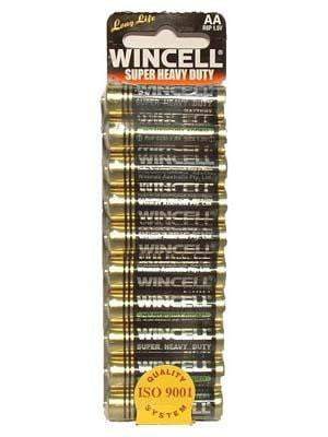 Wincell AA Super Heavy Duty Batteries 10 Pack