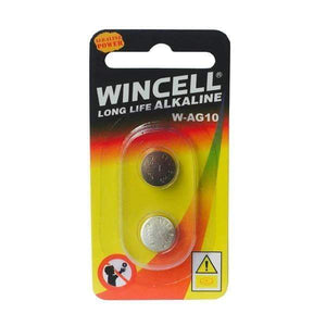 Wincell AG10 Alkaline Battery - 2 Pack