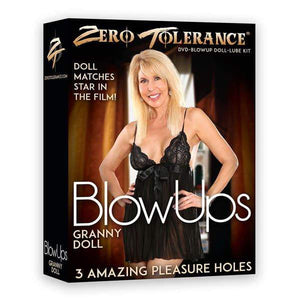 Zero Tolerance BlowUps Granny Doll - Blow Up Love Doll with DVD & Lube