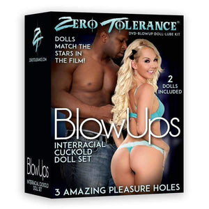 Zero Tolerance BlowUps Interracial Cuckold Dolls - Blow Up Female and Male Love Dolls with DVD & Lube