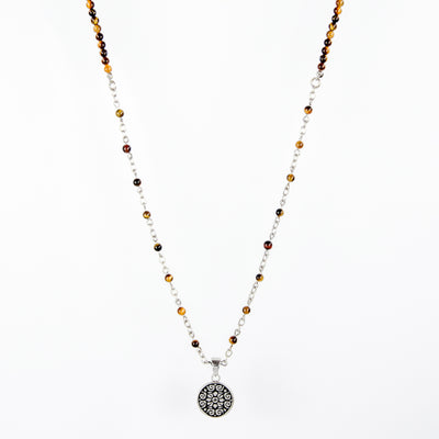 Sadhana Yellow Tiger Eyes Beads Necklace
