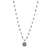 Rosary Red Tiger Eyes Beads Necklace