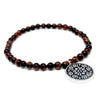 Red Tiger Eyes Beads Bracelet 4 mm