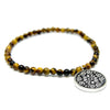 Yellow Tiger Eyes Beads Bracelet 4 mm