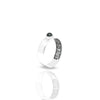 Inner Band Ring With Round Onyx 4 mm