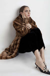 Marei1998. Maya's Diary. Maya Studio. Deutzia Faux Fur Coat In Brown Color.