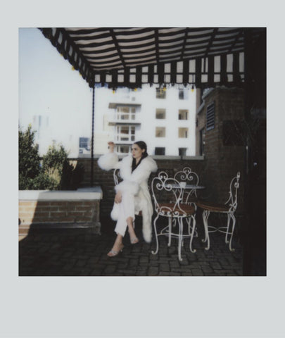 Marei1998. Maya's Diary. Maya NYC. Powderpuff Long Velvet Coat In White Color.