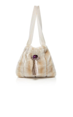 Frangipani Eco Faux Fur Small Handbag