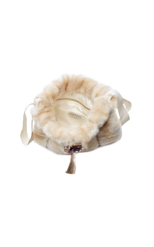 Frangipani_Eco_Faux_Fur_Small_Handbag_Beige_Upper_View