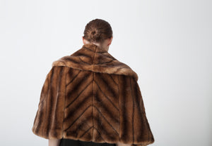 Almond Eco Faux Fur Cape