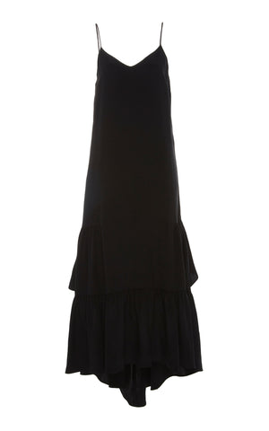 Ongraceae Ruffle Slip Dress