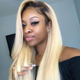 VSHOW HAIR Blonde 1b#613 Virgin Straight Human Hair Lace Front Wigs