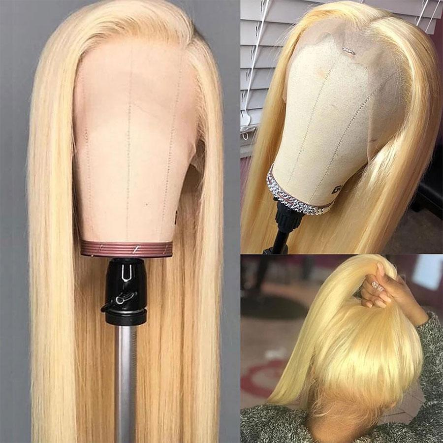 VSHOW HAIR Honey Blonde #613 Straight Human Hair Full Lace Wigs