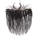 VSHOW HAIR 100% Virgin Human Hair Kinky Curly 13x4 13x6 Lace Frontal Natural Black