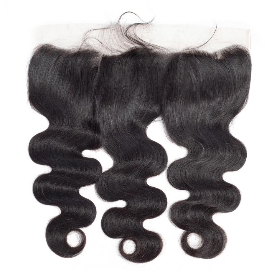 VSHOW HAIR 100% Virgin Human Hair Body Wave 13x4 13x6 Lace Frontal Natural Black