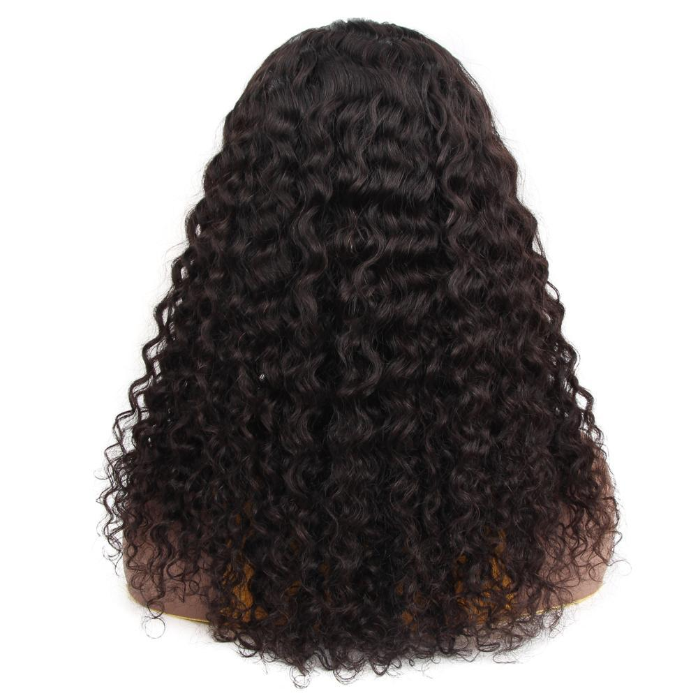 VSHOW HAIR Premium 9A Water Wave Human Hair U Part Wigs Natural Black