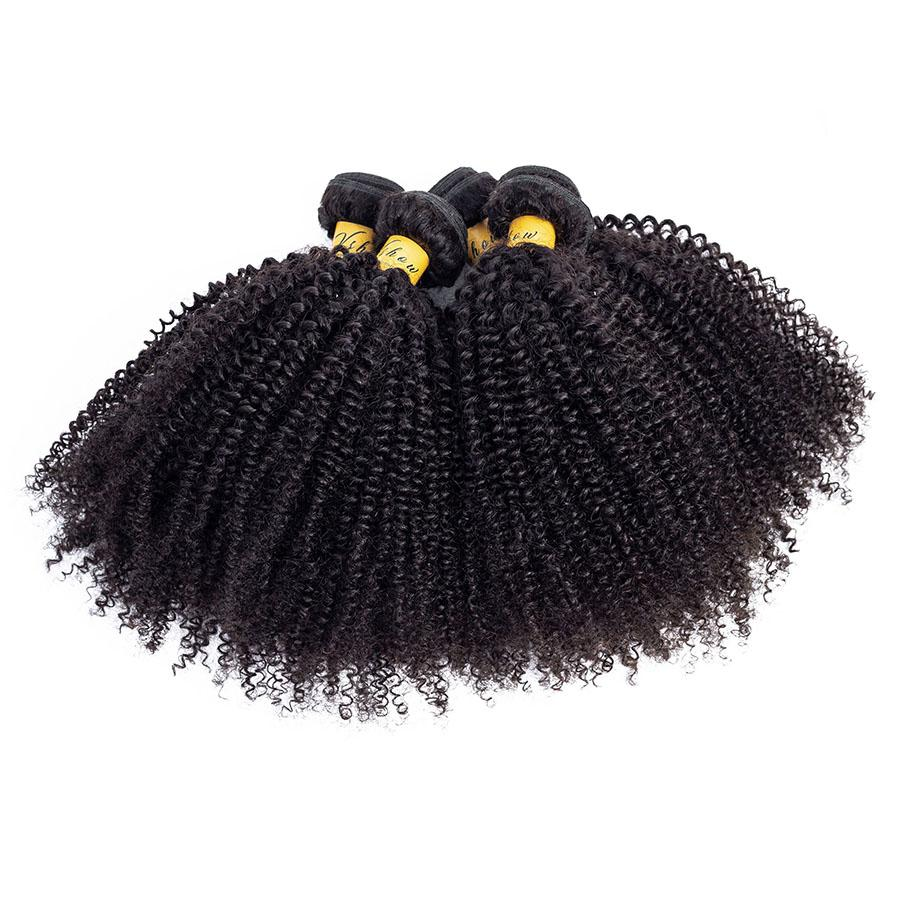 brazilian virgin hair afro curly human hair bundles