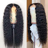 VSHOW HAIR Premium 9A Transparent Lace Front Wigs Peruvian Kinky Curly Human Hair Natural Black