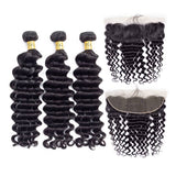 malaysian virgin hair loose deep wave human hair bundles