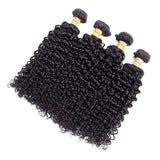VSHOW HAIR Premium 9A Malaysian Human Virgin Hair Water Wave 4 Bundles with Pre Plucked Closure Deal Natural Black