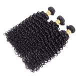 VSHOW HAIR Premium 9A Indian Human Virgin Hair Water Wave 3 Bundles with Pre Plucked Closure Deal Natural Black