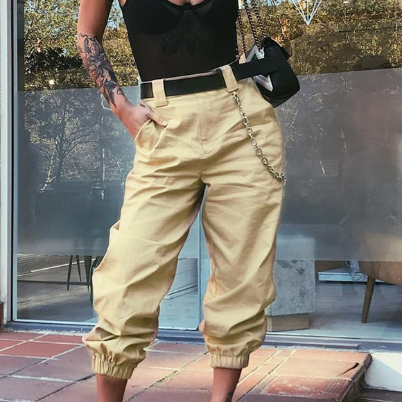 Olivia capri pants with pocket with chain in 5 colors