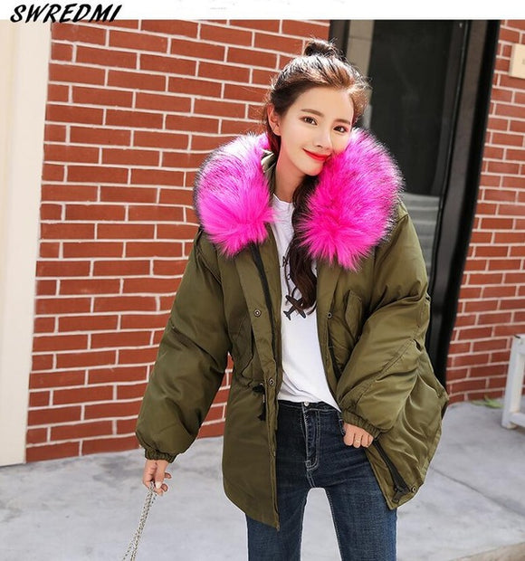 Wendy Cotton Padded Fur Hooded Parkas