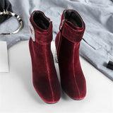 Jenna Rhinestone Pointed Toe Ankle Boots