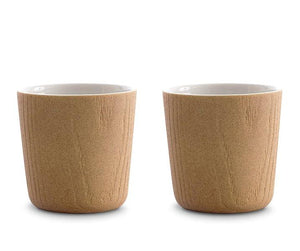 MU Tea Cup 220 ML - Oak Porcelain ( 2 pcs)