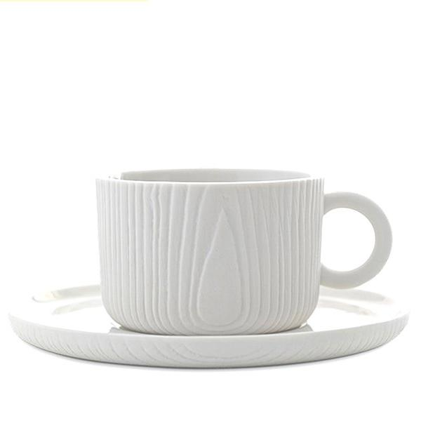 MU Unglazed Ceramic Coffee Cup & Saucer