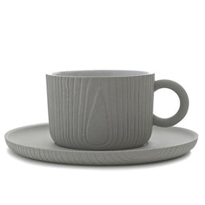 MU Coffee Cup & Saucer Gray