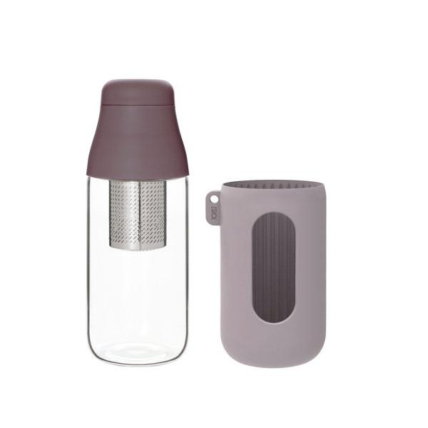 SCENE TEA INFUSER BOTTLE 500 ML PLUM Silicon Insulated Glass
