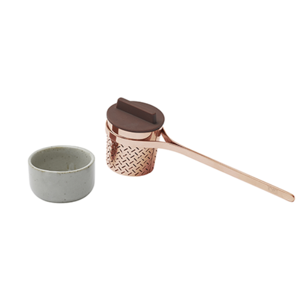 Weaver Loose Leaf Tea Infuser - Copper Finish with Silicone Lid