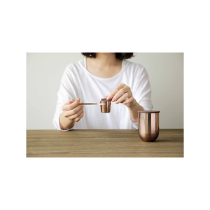 WEAVER Copper Tea Storage Jar with Ceramic Lid