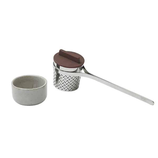 Weaver Loose Leaf Tea Infuser - Stainless Steel with Silicone Lid