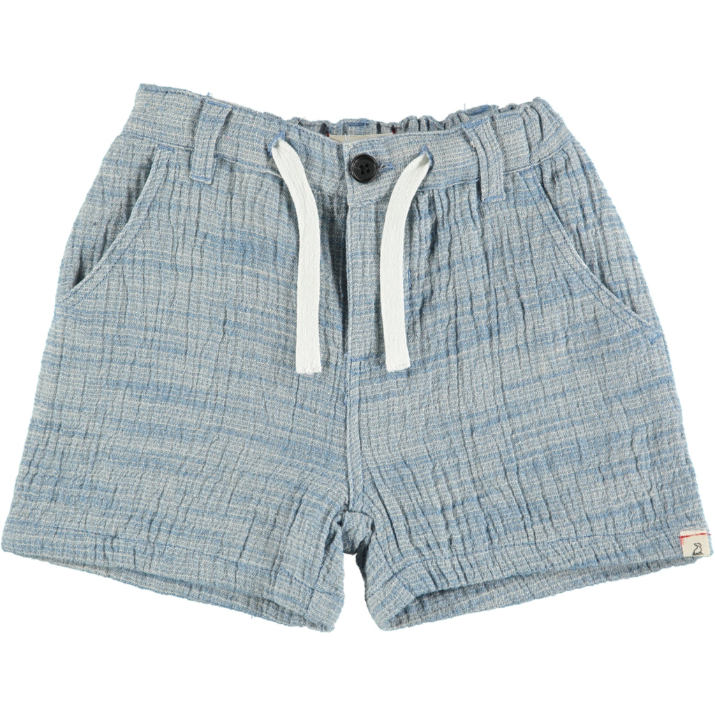 Blue Woven Shorts