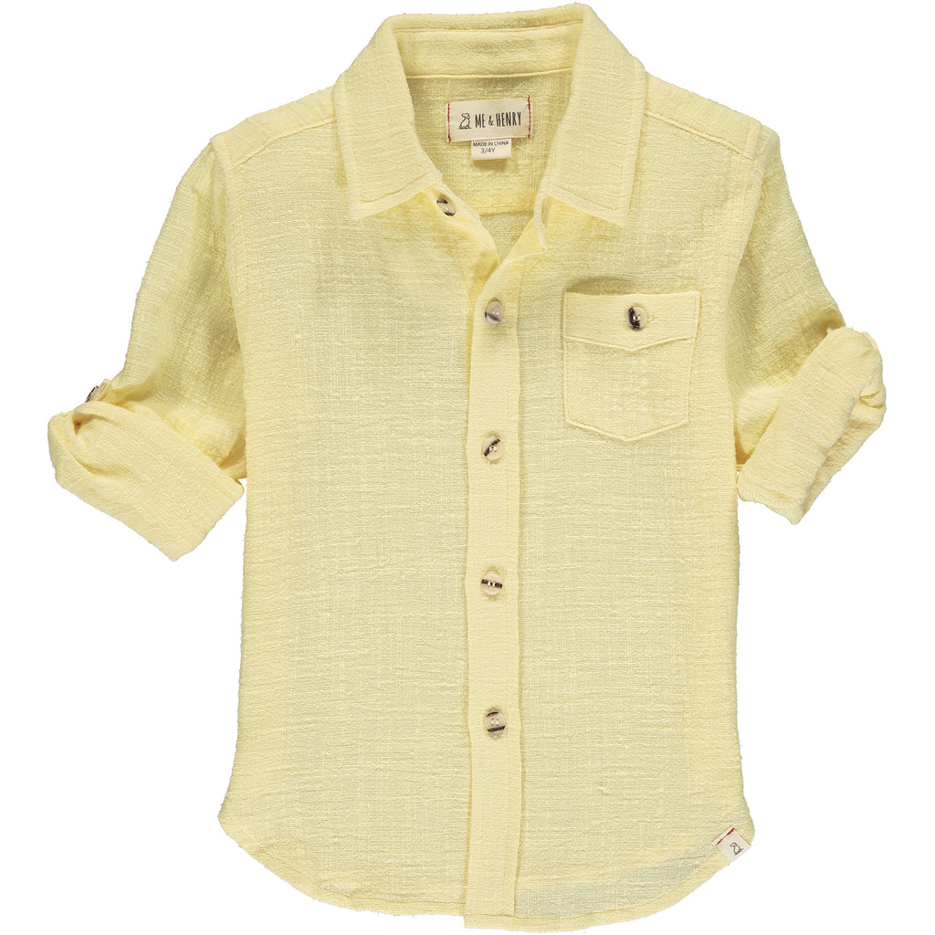 Yellow long sleeved shirt