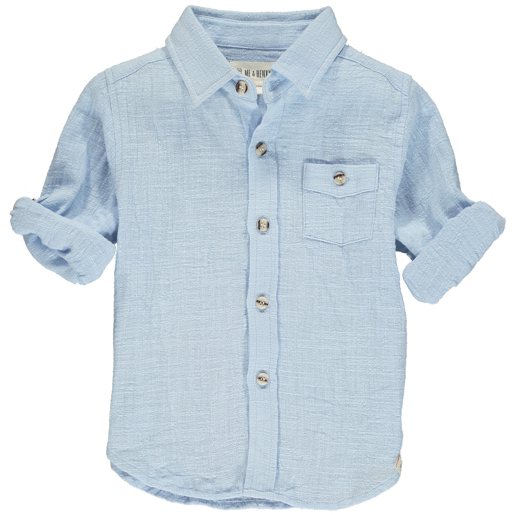 Pale blue long sleeved shirt