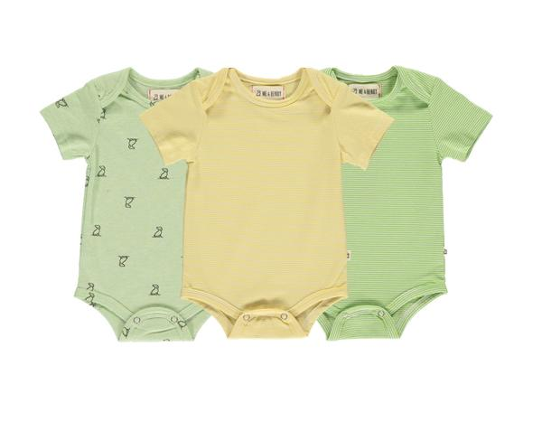Green/multi triple pack onesies